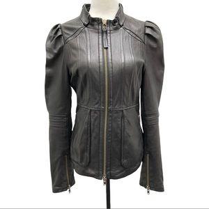Mackage Lambskin Leather Full Zip Jacket